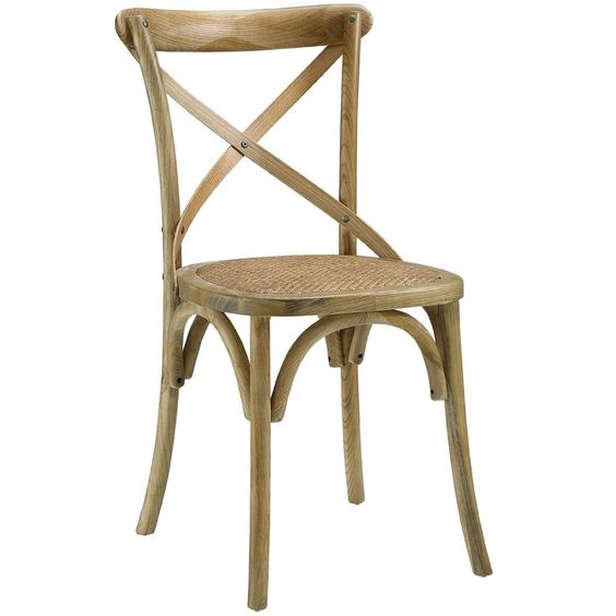 Cross Back rustic farmhouse dining chair