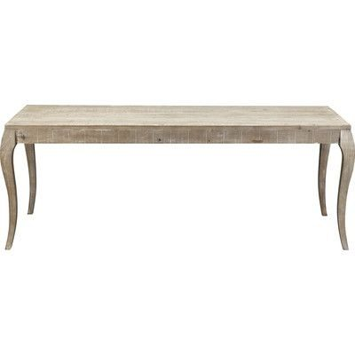 French Farmhouse Dining Table with Curvy Legs