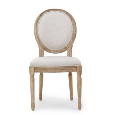 French Linen Dining Chair Set of 2