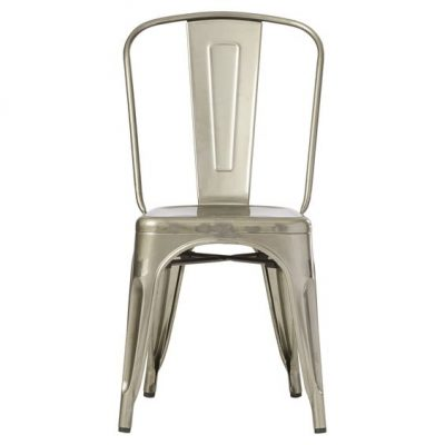 Industrial metal farmhouse dining chairs - they stack!