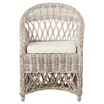Light Grey Rattan Chair