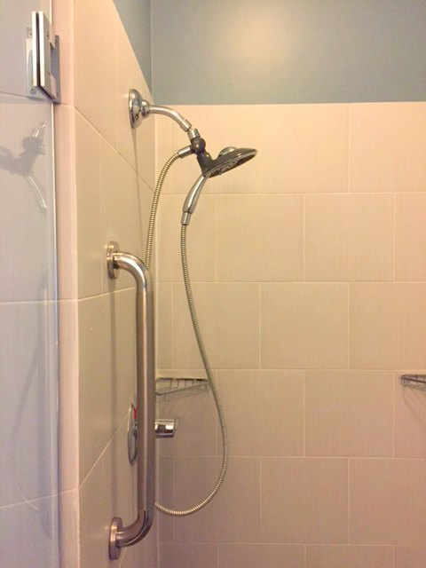 Hotel Indigo Waco oversized shower. #hotelindigo #waco #shower