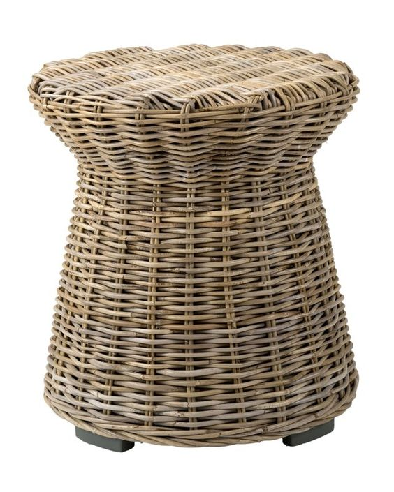 Rattan side table.