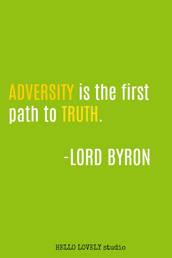 Inspirational quote by Lord Byron on Hello Lovely Studio.