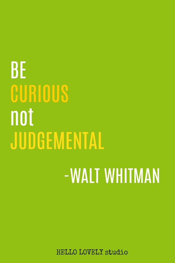 Inspirational quote by Walt Whitman on Hello Lovely Studio.