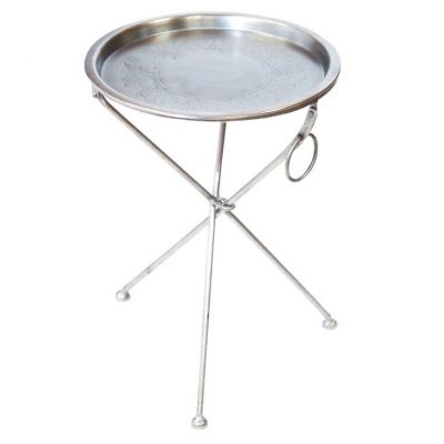 Silver Butler End Table