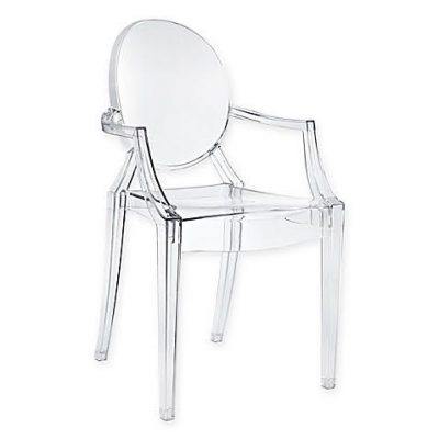 Louis Ghost Chair With Arms - a modern acrylic dining chair.