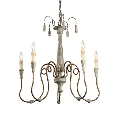 French country decor essential! Laluz French Country chandelier. #frenchcountrydecor #frenchchandelier #rusticchandelier