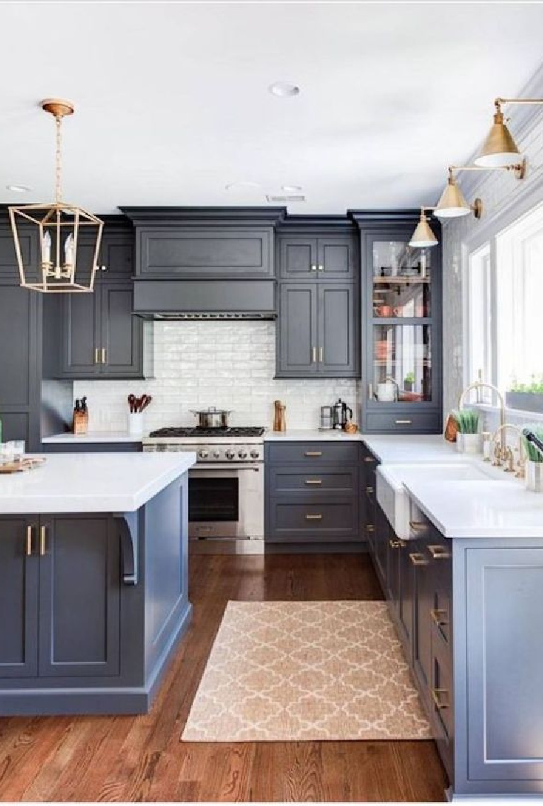 36 Best Beautiful Blue And White Kitchens To Love Hello Lovely