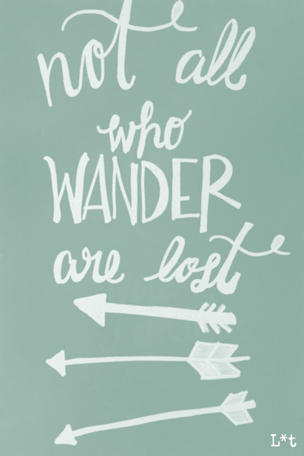 Quote for encouragement and inspiration. Not all who wander are lost. #quote #inspiringquote #encouragement