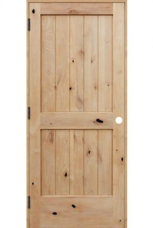 Rustic knotty alder interior door from Pacific Entries