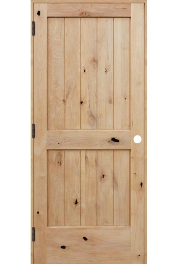 Pacific Entries Knotty Alder Wood Interior Door