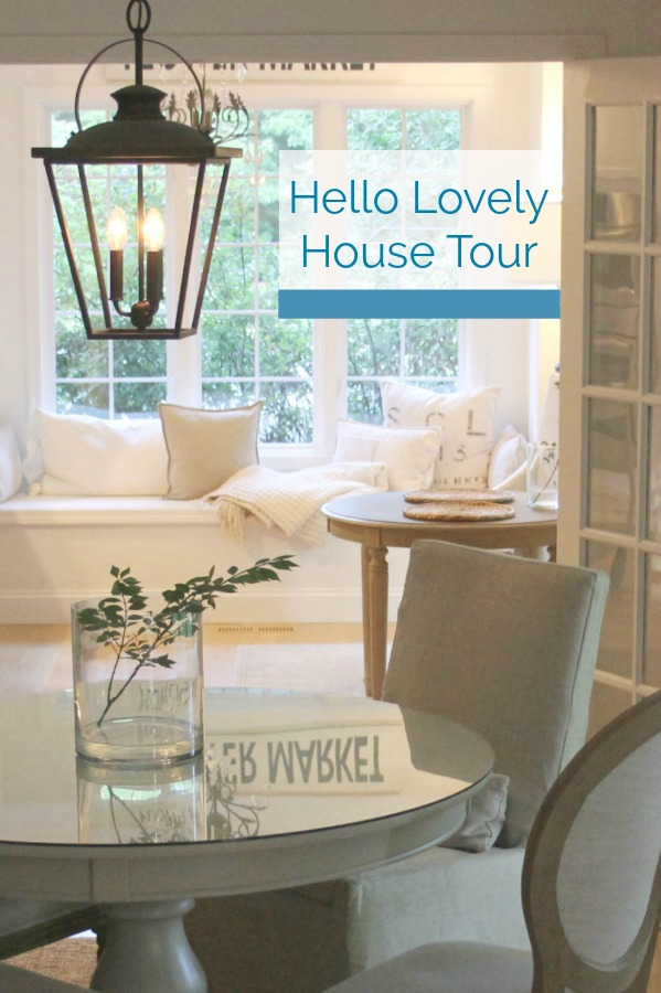 Hello Lovely House Tour July 2018. Come inside to tour European country inspired serene interiors.
