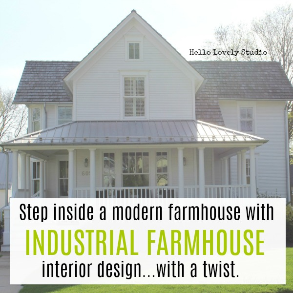Step inside a modern farmhouse with industrial farmhouse interior design with a twist. #industrialfarmhouse #farmhousestyle #housetour #modernfarmhouse #interiordesigninspiration