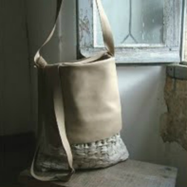My beautiful handmade bag. Photo: Byloom & Hyde. Rustic French Farmhouse in Dordogne & Artist.