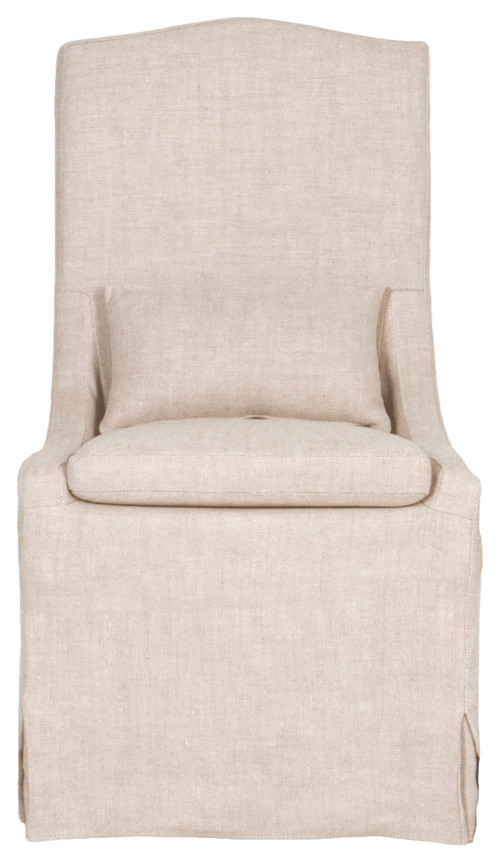 Colette Linen Slipcovered Dining Chair.