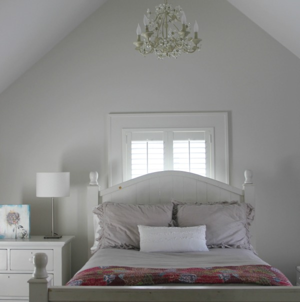 Paint color: BENJAMIN MOORE Stonington Gray. Hello Lovely Studio. Come Tour 16 Soothing Paint Colors for a Tranquil Bedroom Retreat!