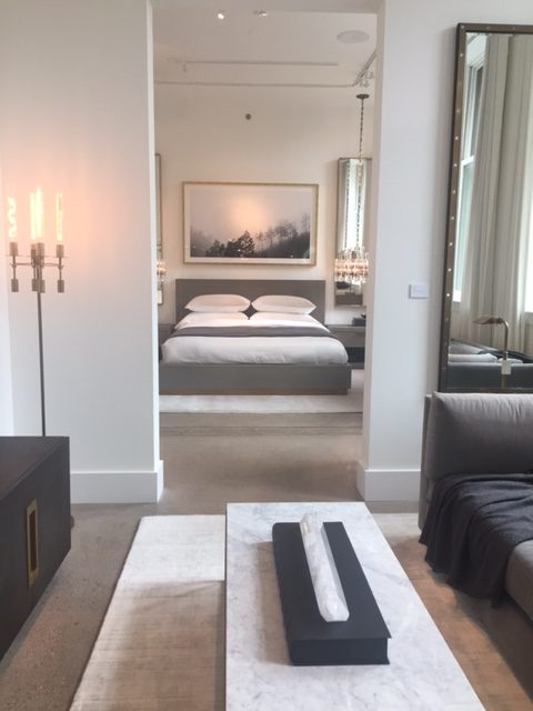 Minimal luxe bedroom design in RH Chicago. #RH #bedroom #3artschicago