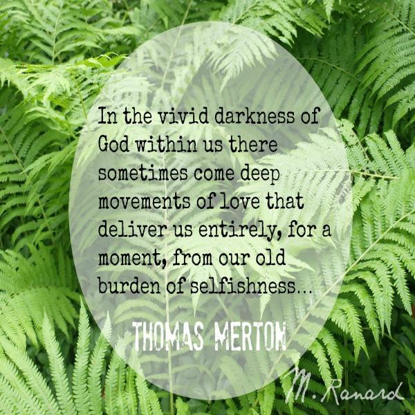 Thomas Merton quote. Hello Lovely Studio.