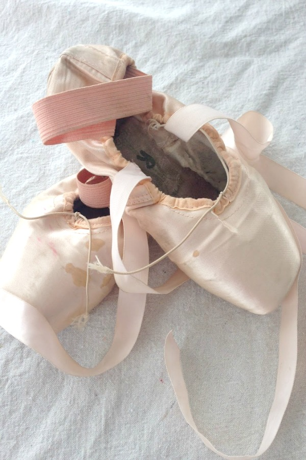 Pink pointe shoes by Hello Lovely Studio. #balletslippers #blushpink #pointeshoes #shabbychic #ballerina #hellolovelystudio
