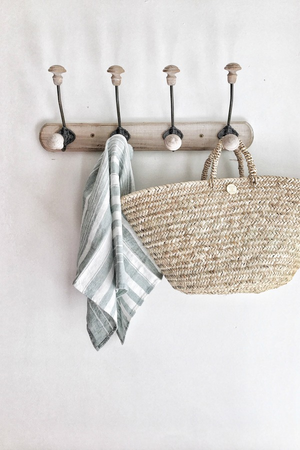 French market basket from Vivi et Margot. #vivietmargot #frenchbasket #frenchfarmhouse #marketbasket