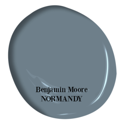 Normandy Benjamin Moore paint color is a gorgeous, saturated blue grey color. #benjaminmoorenaormandy #paintcolors #bluegrey #bluegray