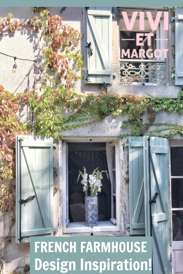 French farmhouse design inspiration from Vivi et Margot on Hello Lovely. #vivietmargot #hellolovelystudio #frenchfarmhouse #housetour #designinspiration #frenchcountry