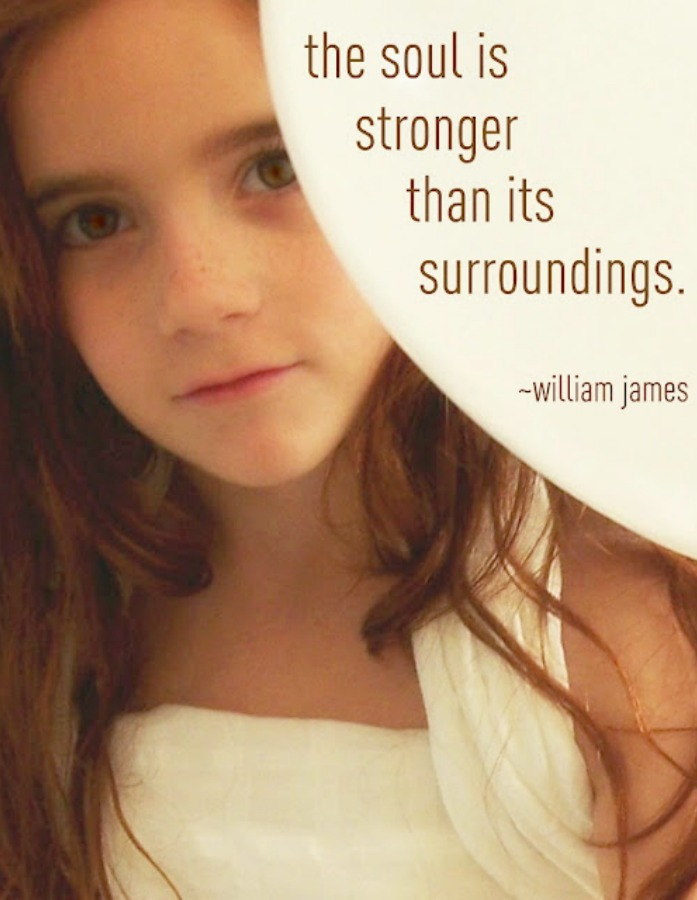 William James quote and photo by Hello Lovely Studio. The Soul is stronger than its surroundings. #hellolovelystudio #quote #williamjames