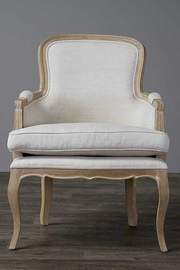 Louis style arm chair. French Country Furniture Finds. Because European country and French farmhouse style is easy to love. Rustic elegant charm is lovely indeed.