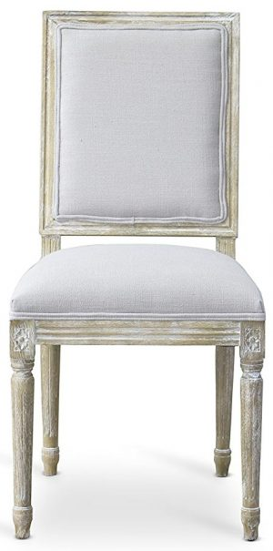 French country linen side chair