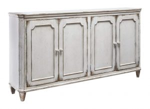 Weathered 4-Door French Cabinet – 71″