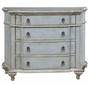 French Blue Antiqued 4-Drawer Cabinet