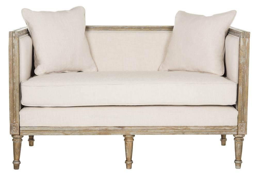 Safavieh Oak Settee - French country loveseat. French Country Furniture Finds. Because European country and French farmhouse style is easy to love. Rustic elegant charm is lovely indeed.