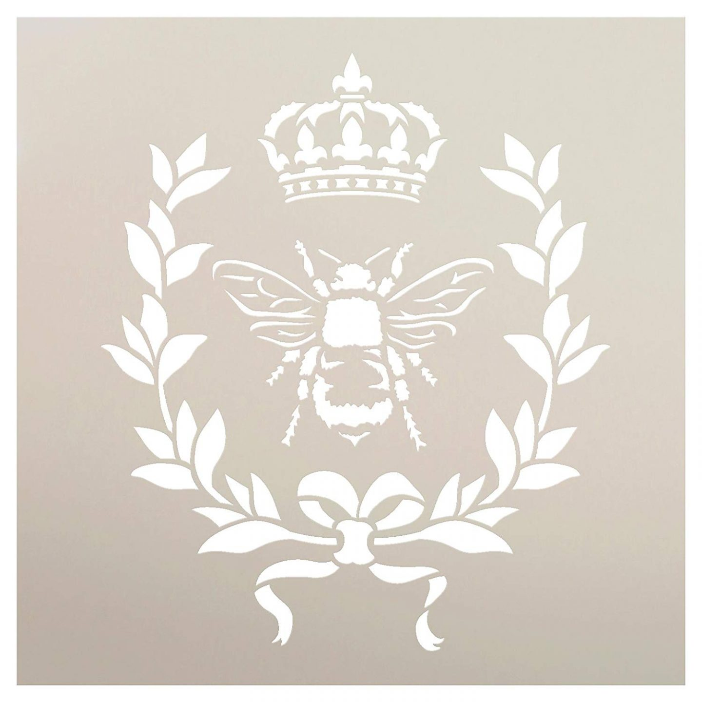 French country stencil with French bee, crown, and garland. French Country Furniture Finds. Because European country and French farmhouse style is easy to love. Rustic elegant charm is lovely indeed.