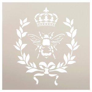 French Country Stencil With Bee
