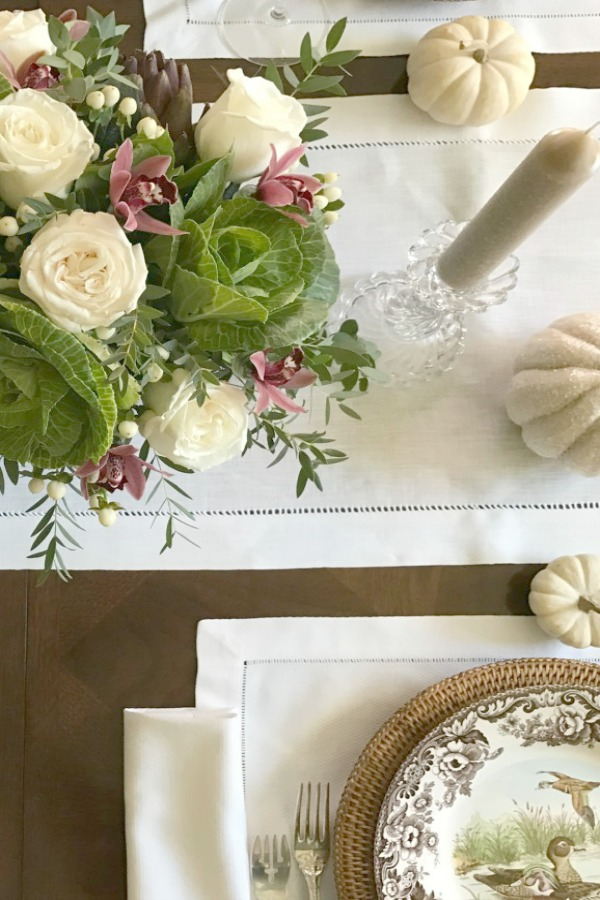 Fall tablescape by Elizabeth of PPT. #fall #tablescape #centerpiece