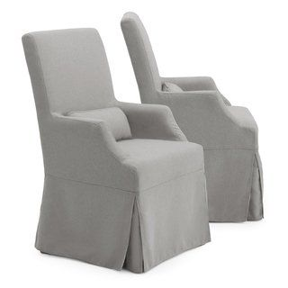 Belgian style upholstered dining chairs