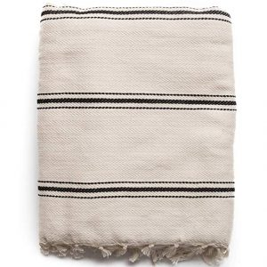 Striped Turkish throw - Come discover Zen Cozy Self-Care Gifts for Millennials & Holiday Humor! #giftguide #millennials #cozygifts