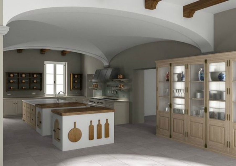 Luxury bespoke kitchen design by Artichoke in a Tuscan villa.