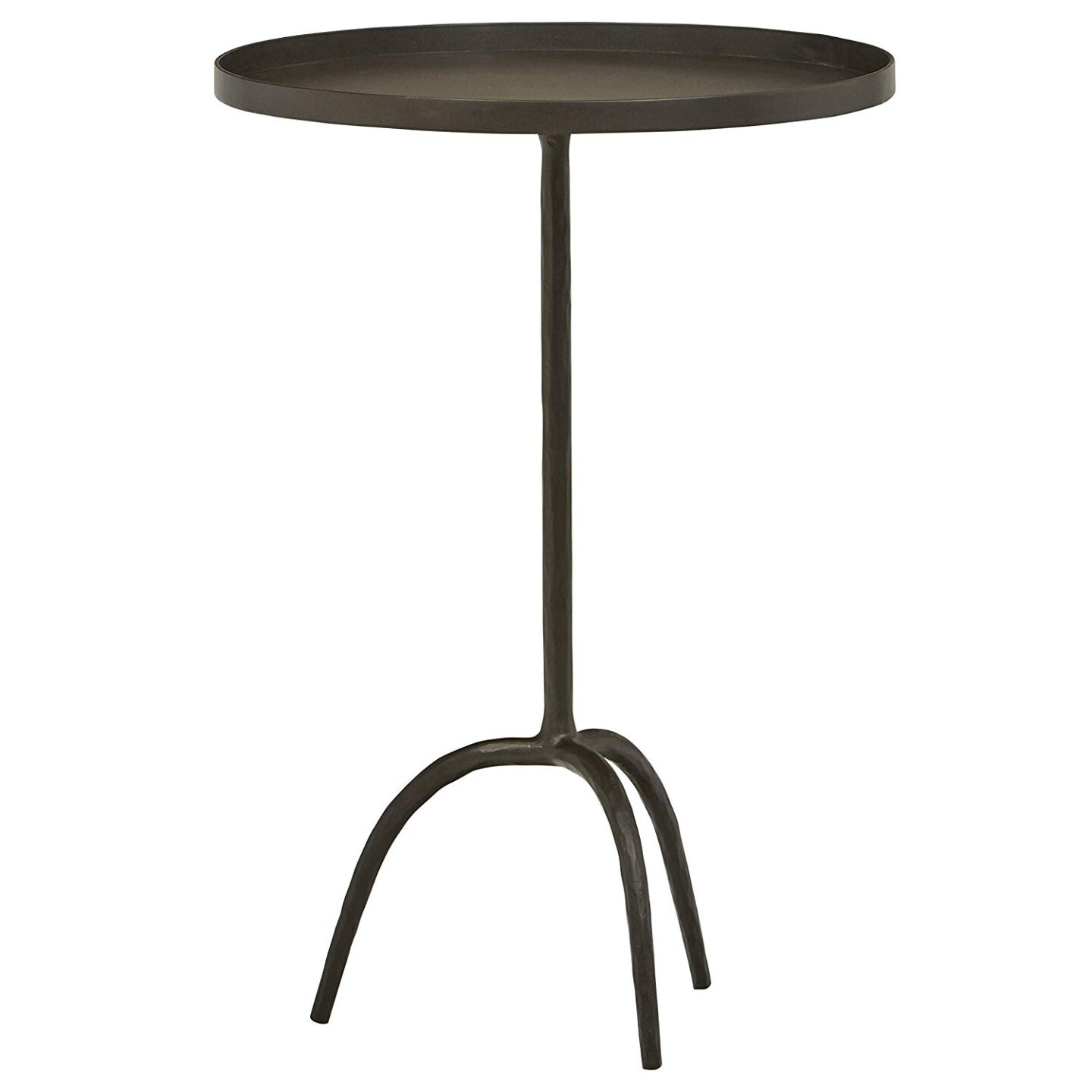 Gunmetal industrial side table or martini table. #sidetable #accenttable #chicfurniture #martinitable