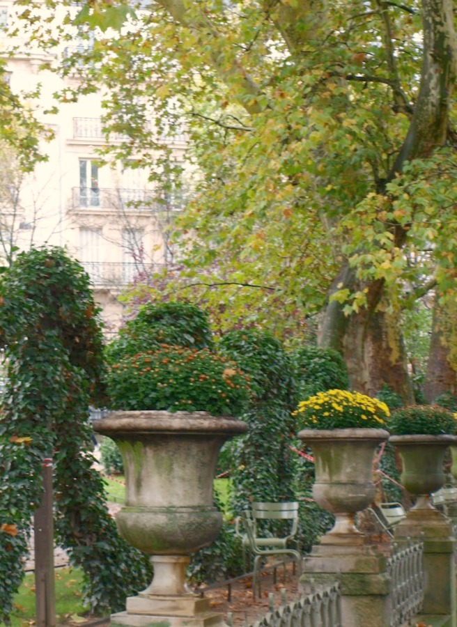 Jardin du Luxembourg. Fall leaves and inspiration for savoring the season. Visit 9 Lovely Ways to Savor Autumn Beauty for more beauty from the avenues of Paris to the American prairie. #hellolovelystudio #fallinspiration #autumn #ideas