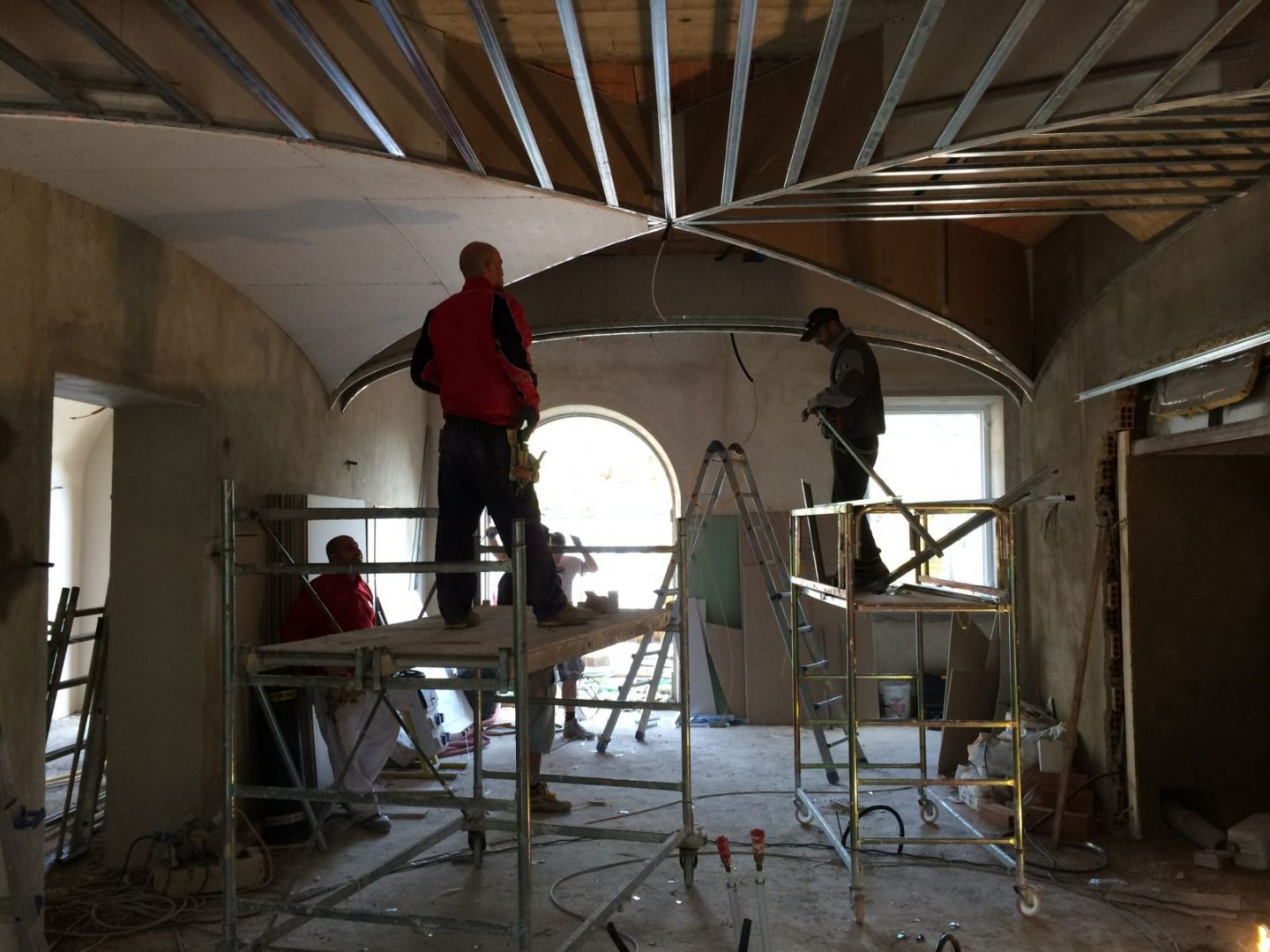 During renovation of Tuscan villa Guglielmesca by Artichoke.