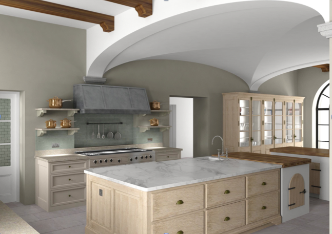 Luxurious bespoke kitchen by Artichoke in Tuscan Villa.