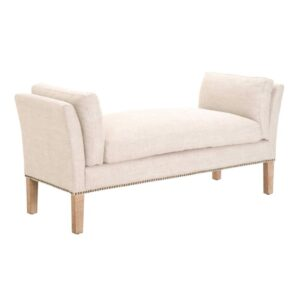 Warner upholstered bench with nailhead trim