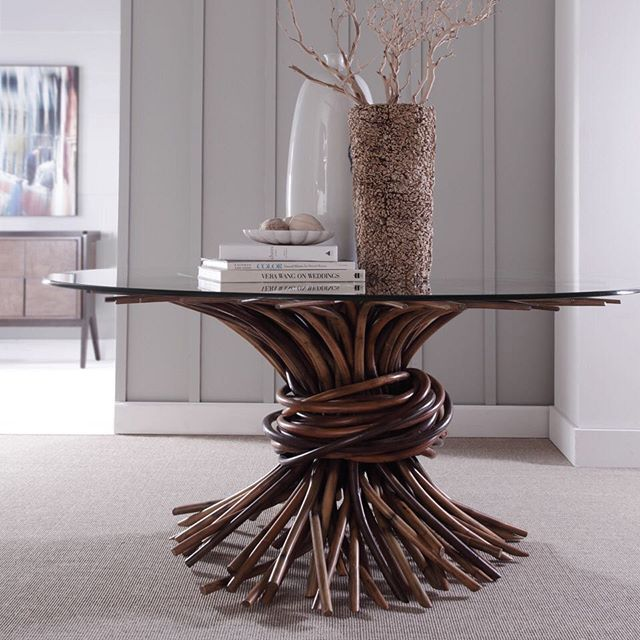 The striking Knot Dining Table from Curate Home Collection is a great example of expert craftsmanship.