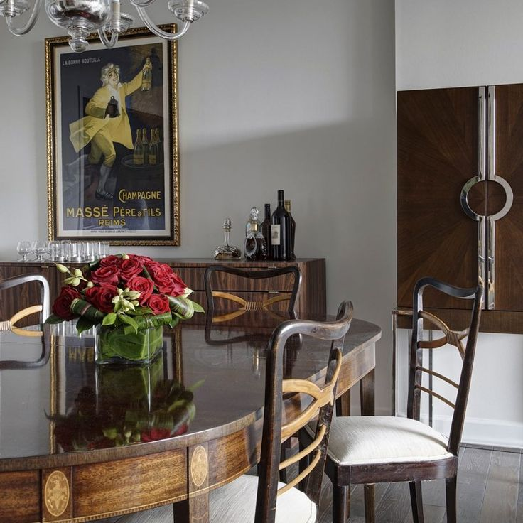 Dining room with antique Baker table. Beautiful interior design inspiration from Chicago designer Cari Giannoulias on Hello Lovely Studio. #hellolovelystudio #interiordesign #carigiannoulias #chicagodesigner #interiordesigner #sophisticateddecor #understated #luxurydecor