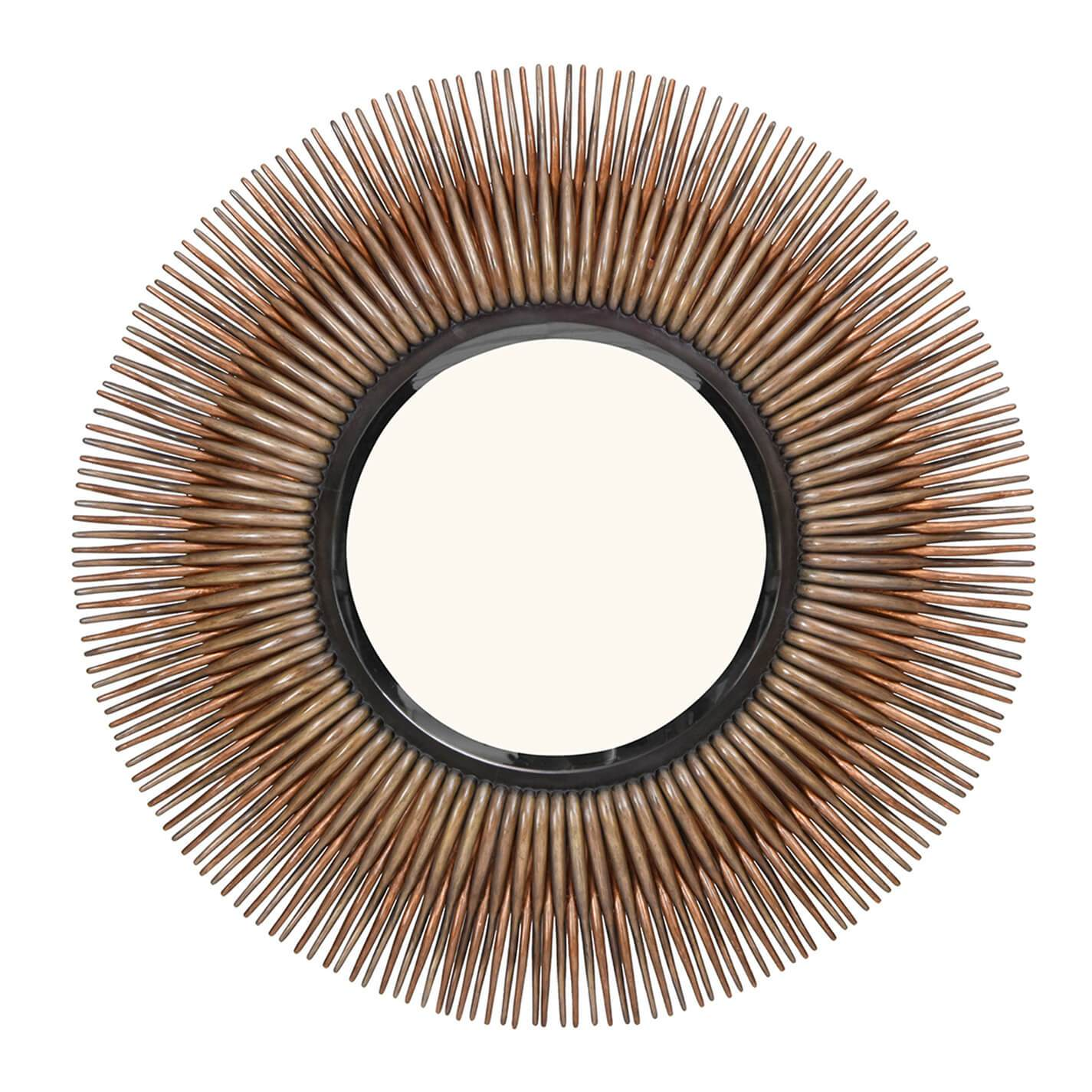 Chronograph Rattan Burst Mirror - Curate Home Collection