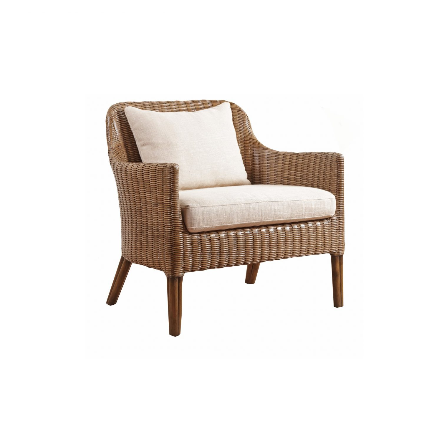 Chronograph Wicker Accent Chair - Curate Home Collection