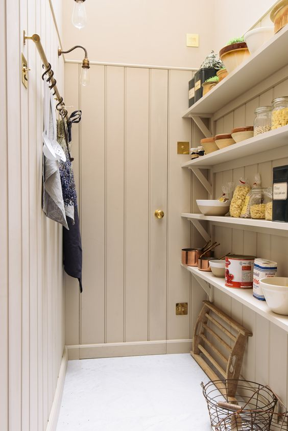 deVOL custom pantry with English country style and superb craftsmanship.