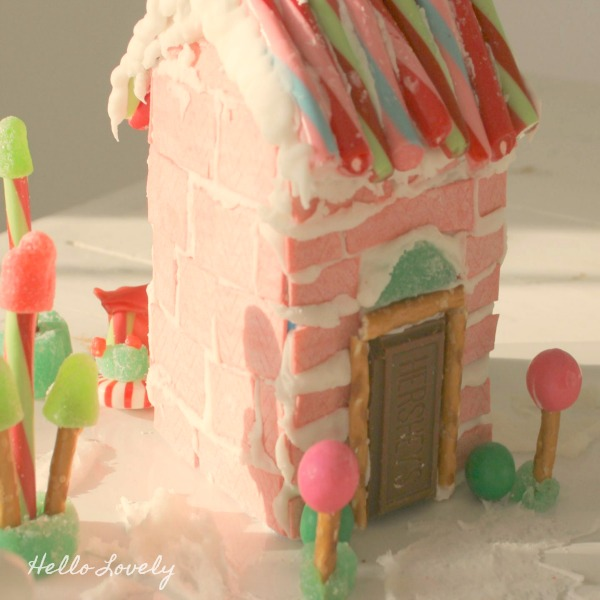 Gingerbread House Ideas & Inspiration. Hello Lovely Studio. #gingerbreadhouse #pinkchristmas